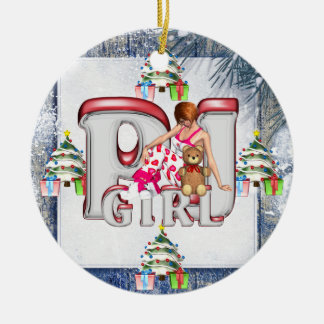 TEE PJ Girl Ceramic Ornament