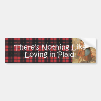TEE Plaid Love Bumper Sticker