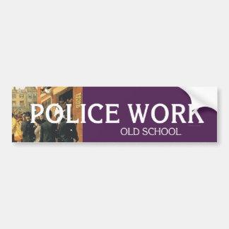 TEE Police Work Bumper Sticker
