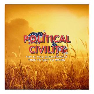 TEE Political Civility Acrylic Print