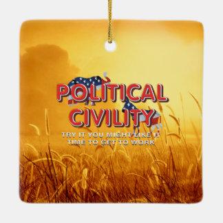 TEE Political Civility Ceramic Ornament
