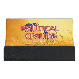 TEE Political Civility Desk Business Card Holder