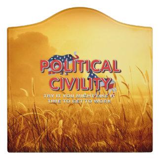 TEE Political Civility Door Sign