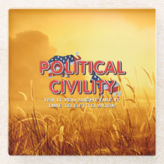 TEE Political Civility Glass Coaster
