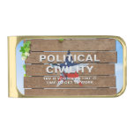 TEE Political Civility Gold Finish Money Clip