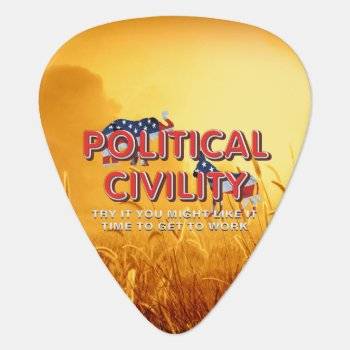 Tee Political Civility Guitar Pick by teepossible at Zazzle