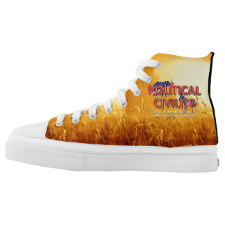 TEE Political Civility High-Top Sneakers