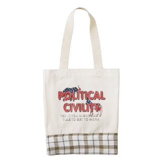 TEE Political Civility Zazzle HEART Tote Bag