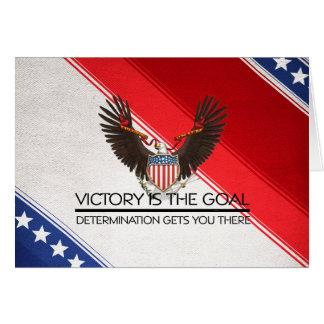 TEE Political Victory Slogan Greeting Card