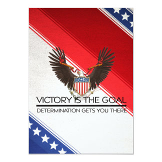TEE Political Victory Slogan 5x7 Paper Invitation Card