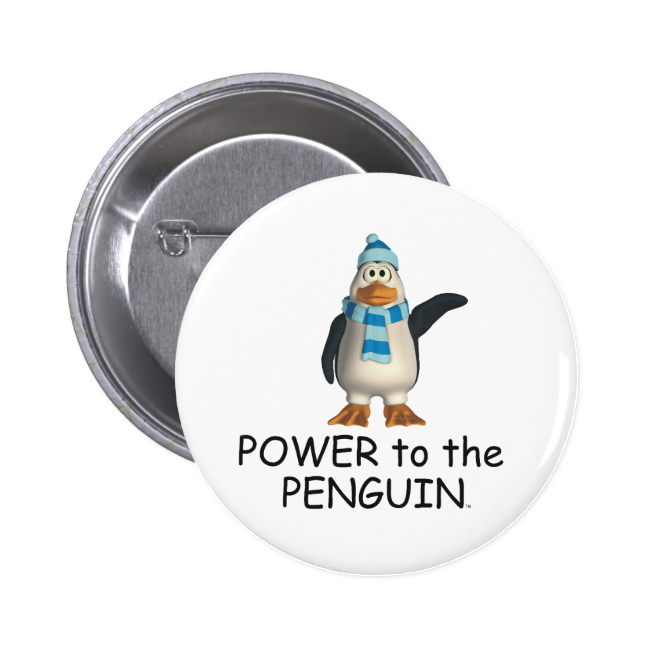 TEE Power to the Penguin 2 Inch Round Button
