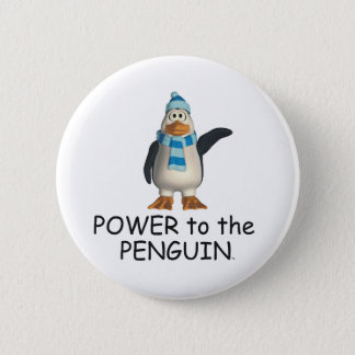 TEE Power to the Penguin Pinback Button