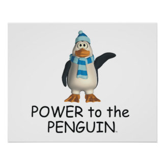 TEE Power to the Penguin Poster