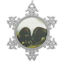 TEE Prairie Battle Snowflake Pewter Christmas Ornament