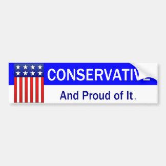 TEE Proud Conservative Bumper Sticker