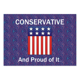 TEE Proud Conservative Large Business Card