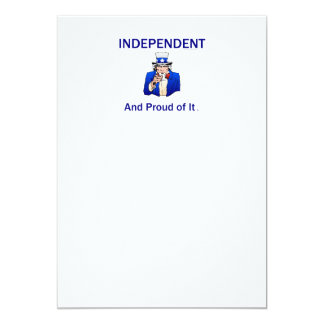 TEE Proud Independent Card