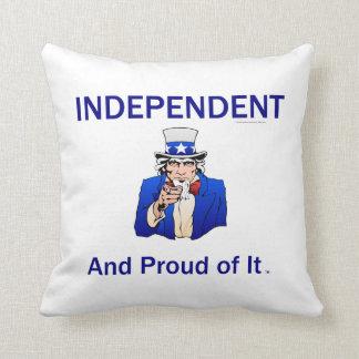 TEE Proud Independent Throw Pillow