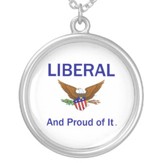 TEE Proud Liberal Round Pendant Necklace