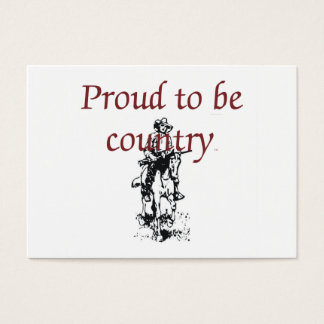 TEE Proud to be Country Business Card