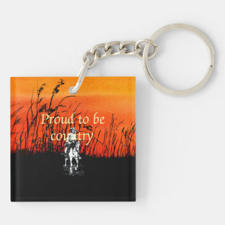 TEE Proud to be Country Keychain