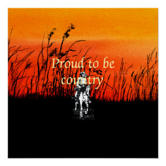 TEE Proud to be Country Poster