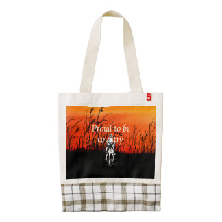 TEE Proud to be Country Zazzle HEART Tote Bag