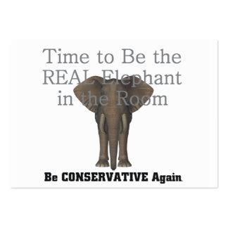 TEE Real Elephant Business Card Template