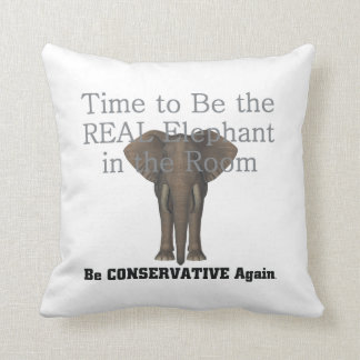 TEE Real Elephant Throw Pillow
