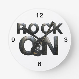 TEE Rock On Round Clock