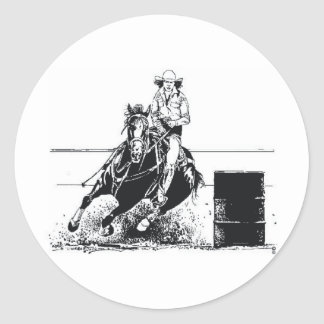 TEE Rodeo Cowgirl Classic Round Sticker
