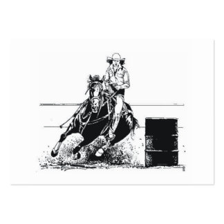 TEE Rodeo Cowgirl Large Business Card
