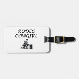 TEE Rodeo Cowgirl Bag Tags