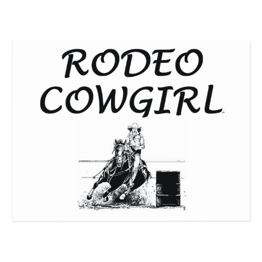TEE Rodeo Cowgirl Postcard