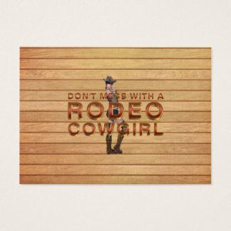 TEE Rodeo Cowgirl Slogan Business Card