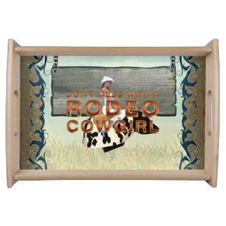 TEE Rodeo Cowgirl Slogan Service Trays