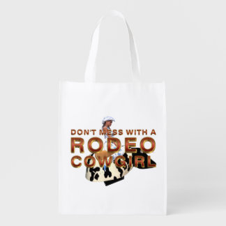 TEE Rodeo Cowgirl Slogan Reusable Grocery Bag