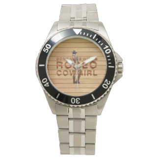 TEE Rodeo Cowgirl Slogan Wristwatches