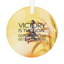 TEE Rodeo Victory Slogan Ornament