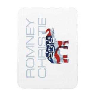TEE Romney Christie 2012 Rectangular Photo Magnet