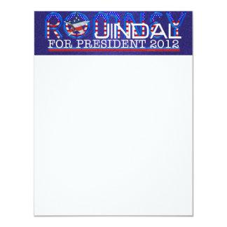 "TEE Romney Jindal 4.25"" X 5.5"" Invitation Card"