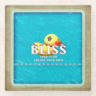 TEE Rubber Ducky Bliss Glass Coaster