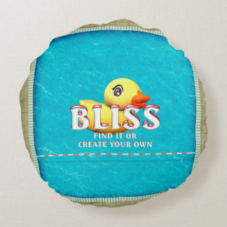 TEE Rubber Ducky Bliss Round Pillow