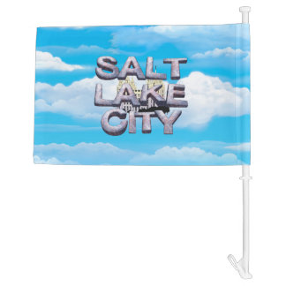 TEE Salt Lake City Car Flag