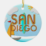 TEE San Diego Christmas Ornament