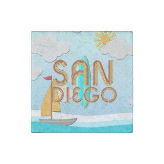 TEE San Diego Stone Magnet