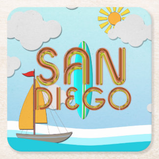 TEE San Diego Square Paper Coaster