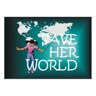 TEE Save Her World Large Business Cards (Pack Of 100)