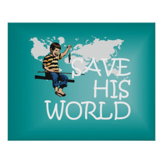 TEE Save His World Poster