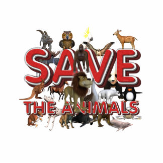 TEE Save The Animals Cutout